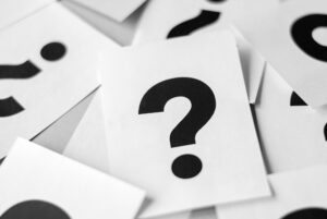 Cards with question marks