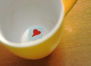 love message in cup