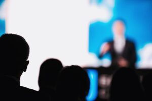 Presentation Of A Speaker On The Stage